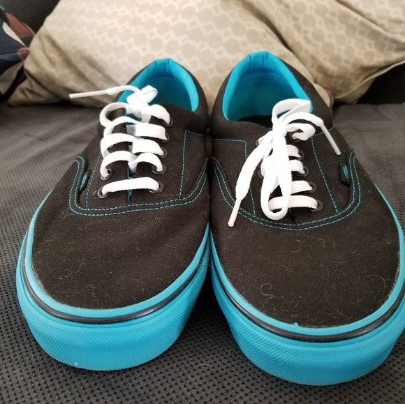Mint Black With Light Blue Sole Vans